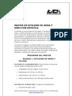 Master en Estilismo de Moda y Dirección Artística | IDEM 2012