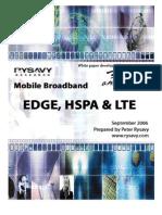 Study - Data Capabilities - Mobile Broadband - EDGE, HSPA and LTE
