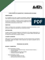MARKETING Y COMUNICACIÓN DE MODA | IDEM 2012