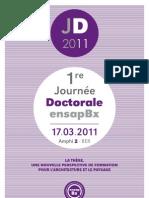 Broch Journee Doctorale 2011