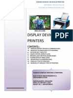 Display Devices and Printers