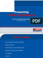 HDFC Top200 Fund April 302011