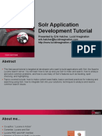 Solr Application Development Tutorial Presentation