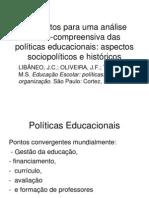 Elementos Para Uma Analise Critico-compreensiva Das Politicas Educacionais