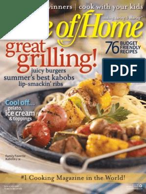 Taste of Home Magazine - June 2008 - SHL Team | Salad | Ice