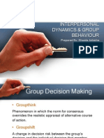 Interpersonal Dynamics & Group Behaviour