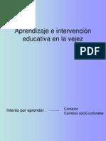 Aprendizaje e intervención educativa en la vejez