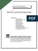Mock Exam Level II 2004 Final Ans