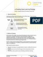 Developing a Learning Strategy