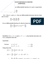 Derivative of Function of a Function