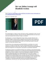 Autobiographie von Julian Assange soll morgen veröffentlicht werden