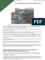 Proyectos Extractivos Son Una Fuente de Abuso de Derechos de PPII en Todo El Mundo Servindi 21.09