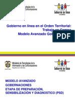 Trabajo en Campo Modelo Avanzado Gobernaciones