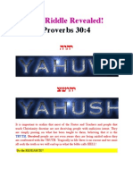 Hebrew Name of Messiah