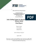 Stirling Engine Final Report Spring 2010