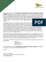 Sponsor Letter 2011