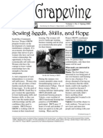 Grapevine Newsletter of Project Grow - Spring 2000