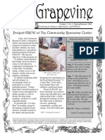 Grapevine Newsletter of Project Grow - Summer 2001