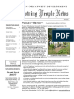 Growing People Newsletter - Fall 2006