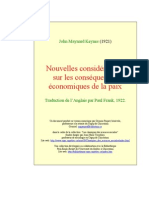 Keynes -  Les Conséquences Economiques De La Paix