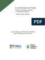 Ley de Egresos Del Estado de Puebla Para El Ejercicio Fiscal 2011