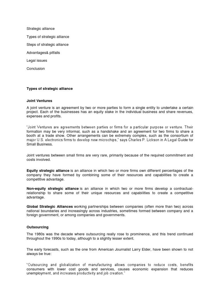 Final Strategic Alliance License Franchising