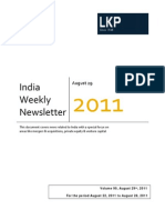 India Weekly Newsletter 22nd August-28th August