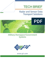 Radar and Sensor Data Transport Solutions