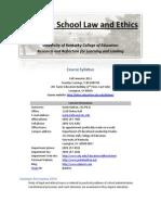 EDL 628 - Fall 2011 - Syllabus 2