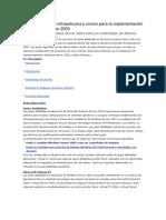 Guía detallada de infraestructura común para la implementación de Windows Server 2003