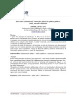 Alves - 2009 - Notas sobre os fundamentos comuns dos sistemas de políticas públicas