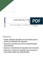 Especificação e Definição de Requisitos