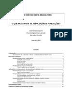 Código Civil - Fundações e Associações (Mudanças)
