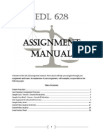 EDL 628 - Assignment Manual