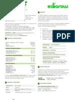 AGROPLUS EVE Ecogrow Technical Data Sheet