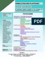 Formation Continue Additifs & formulation des plastiques et polymères 2012