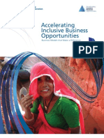 Accelerating Inclusive Business Opportunities