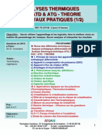 Formation Continue Analyse Thermique DSC ATD ATG Analyse Thermogravimetrique Theorie & Pratique 2012