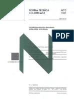 NORMA NTC 1931 SEÑALES CONTRA INCENDIO SI CIES-013-2011