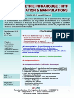 Formation Continue Spectrométrie Infra Rouge IRTF 2012