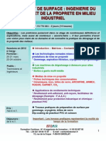 Formation Continue Traitement de Surface Ingénierie Du Décapage Et de La Propreté 2012