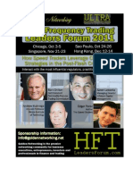 Privileges No Other High Frequency Trading Conference Can Provide