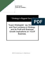 Jay Abraham - Strategy's Biggest Secret