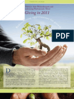 2011 Non-Profit Giving Survey-1