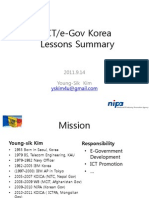 ICT & E-Gov Korea Lessons Summary - MITC YoungSik Kim