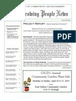 Growing People Newsletter - Winter 2001-2002