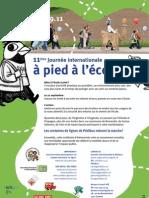 11eme journée internationale à pied à l'école - 22 sept. 2011