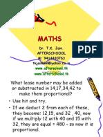 26 may maths I