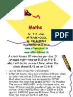 9 June Maths I