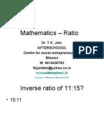 1 July Mathematics Ratio